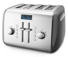 KitchenAid Digital Display KMT422QG 4-Slice Toaster Stainl Steel Liquid Graphite