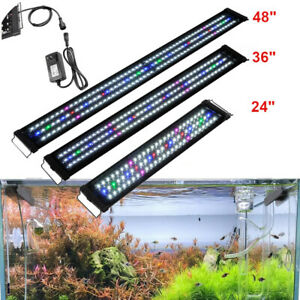 LED Aquarium Light Full Spectrum Freshwater Fish Tank Plant Bulbs 24