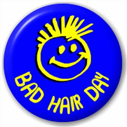 Bad Hair Day 25Mm Pin Button Badge Lapel Pin Haidressers Joke