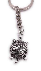 Luxus-accessoires Schildkröte Klein Schlüsselanhänger Anhänger Silber Aus Metall Schlüsselanhänger
