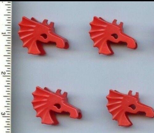LEGO x 4 Red Horse Battle Helmet 6125 Castle Adventurerers Time Cruisers