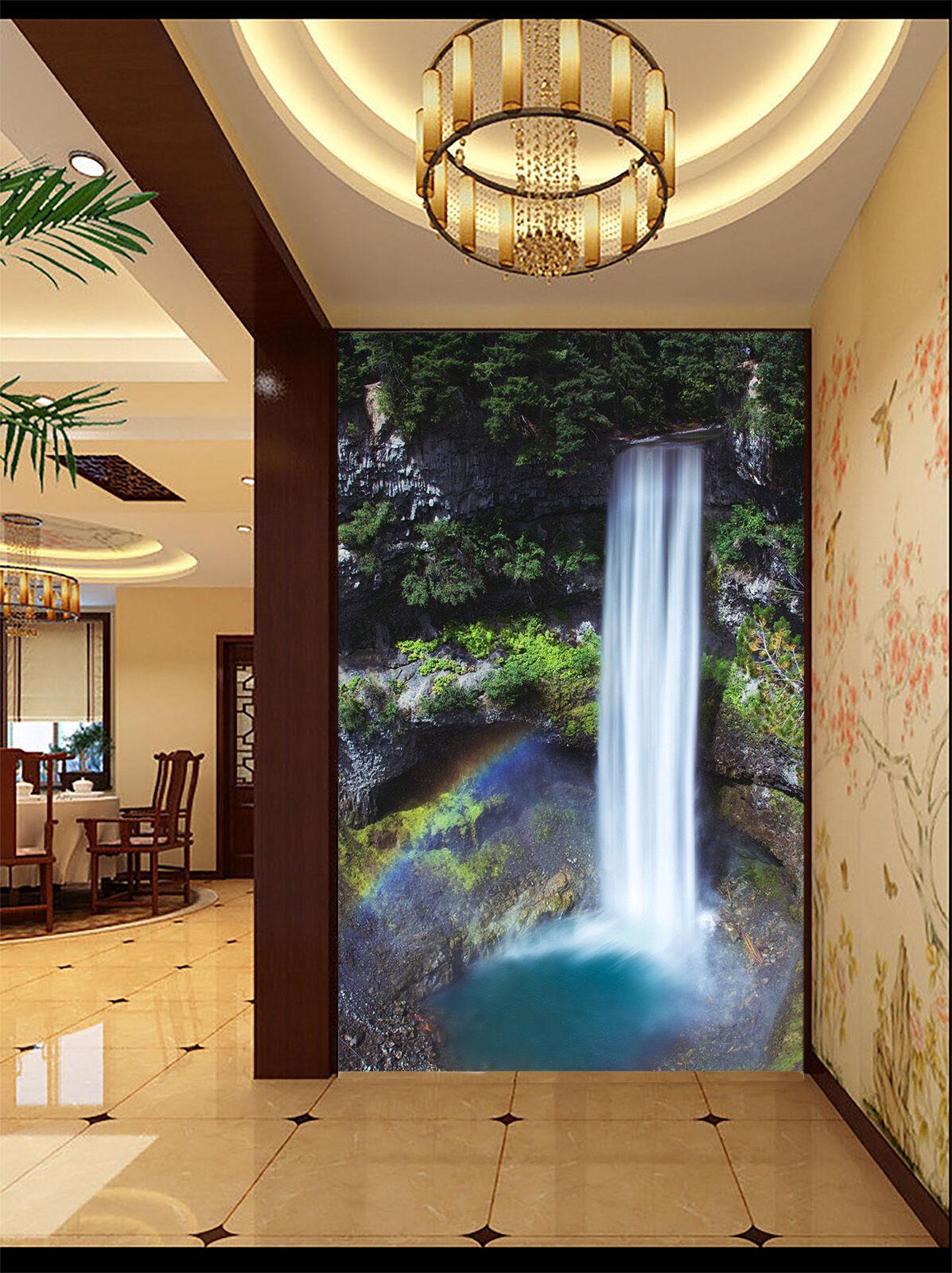 3D Cascade 067 Photo Papier Peint en Autocollant Murale Plafond Chambre Art