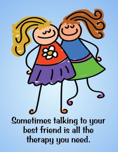 METAL REFRIGERATOR MAGNET Talking To Best Friend All Therapy Needed Family Humor
