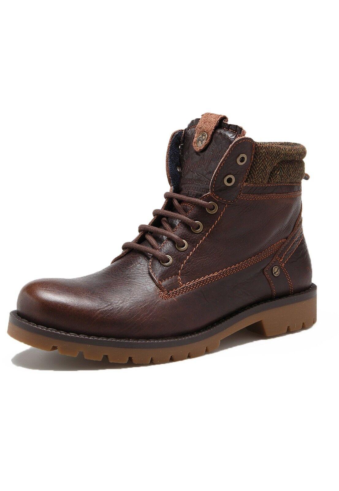 Wrangler Creek Tweed Stiefel High schuhe Dark braun Leather Leather Leather Biker Cowboy Jean Stiefel  91cdb1