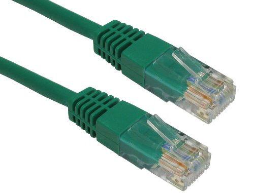 Câble réseau droit ethernet RJ45 (cat.5) 5m vert