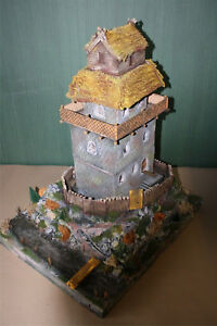 Normannen-Burg-Motte-zu-7cm-1463-Ritter-Normannen-zu-Sammlerfiguren-passend