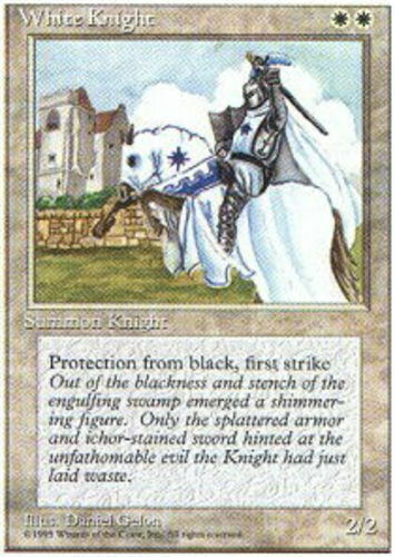 English 4th Edition MTG Magic 4x White Knight Moderate Play