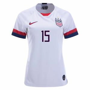 NIDDRYER 15 Star Megan Rapinoe USA Womens National 2019//2020 Home Jersey Color White