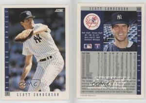 Details About 1993 Score 618 Scott Sanderson New York Yankees Baseball Card