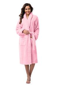 Women Robe -Bathrobe Coral Fleece Robe - Thick -VERY SOFT -Long ... a19869cfd2