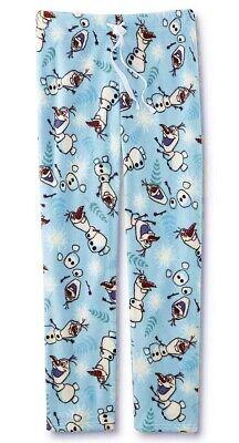 Disney Womens Frozen Olaf Minky Plush Lounge Pants