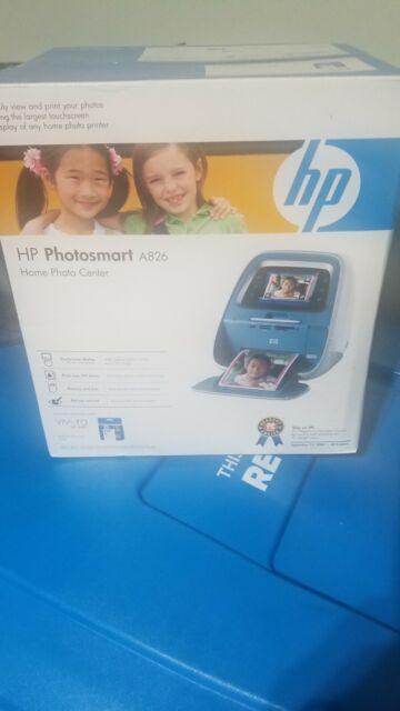 HP Photosmart A826 Digital Photo Inkjet Printer Home Photo Center New Sealed Box