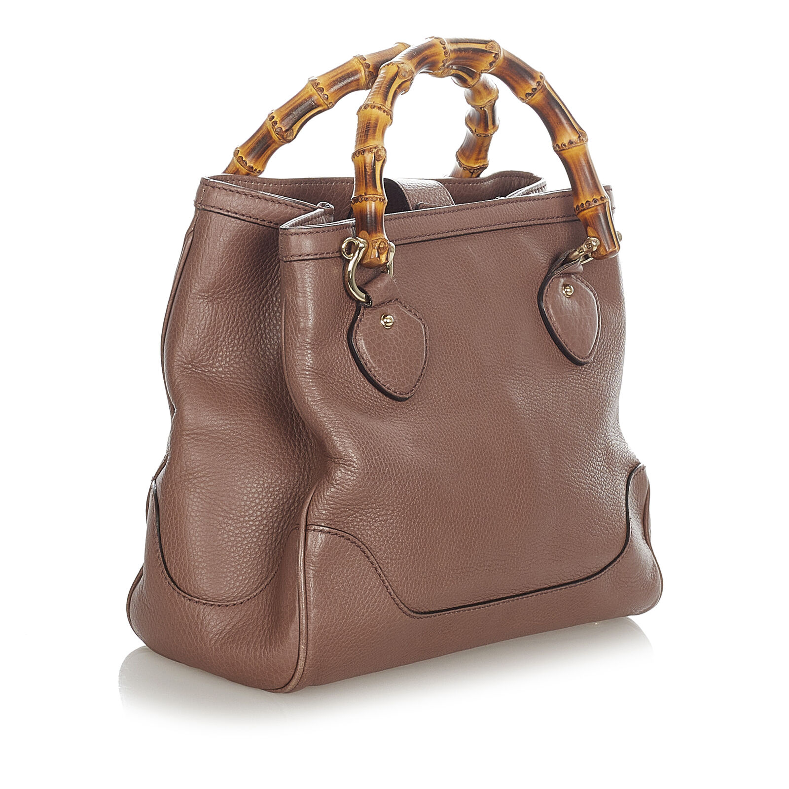 Pre-Loved Gucci Brown Calf Leather Bamboo Diana H… - image 2