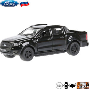 1-36-Scale-Diecast-Metal-Model-Car-Ford-Ranger-Pickup-Truck-Black-Die-cast-Toy