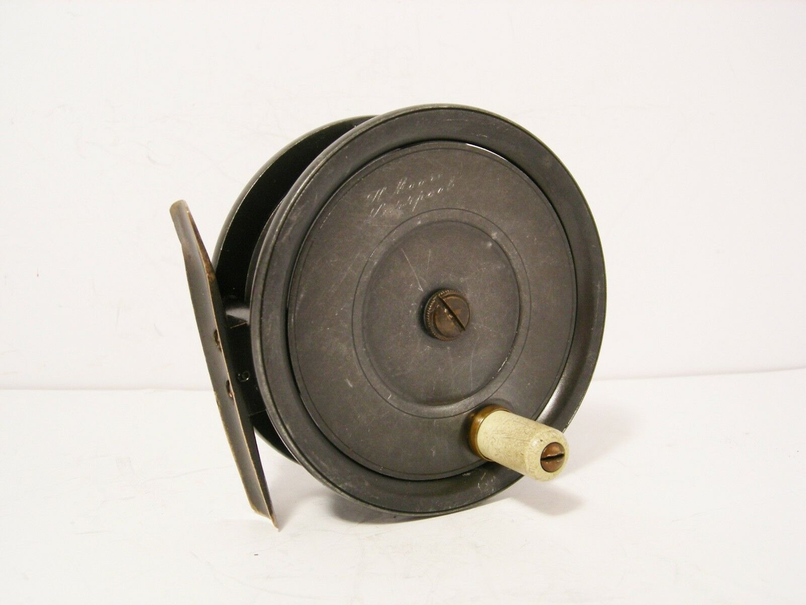 Vintage Antique Alloy Dingley 3½  Fly Fishing Reel - Retailed for H.Moore