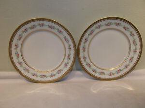 Antique Gold Encrusted Limoges Avenir Porcelain Dinner Plate Floral Burley