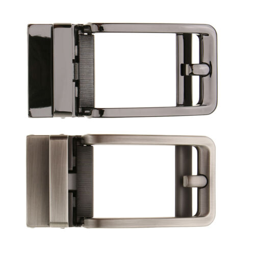Men/'s  PU Leather Automatic Belt Buckle Auto Lock Replacement