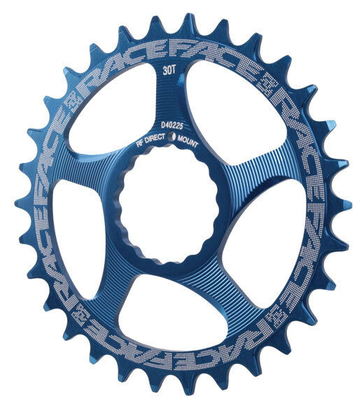 Race Face Single Narrow Wide 1x MTB Direct Mount Cinch Chainring 32t bluee