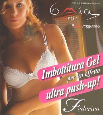 """Di Larghe Vedute Reggiseno A Balconcino """"push Up"""" 6mia Mod. Federica Pizzo Gel Ferretto"""