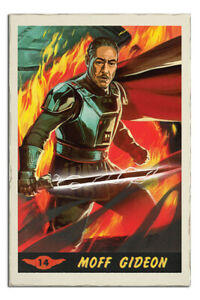 Laminated-Star-Wars-The-Mandalorian-Moff-Gideon-Card-Poster-Official-24x36-034