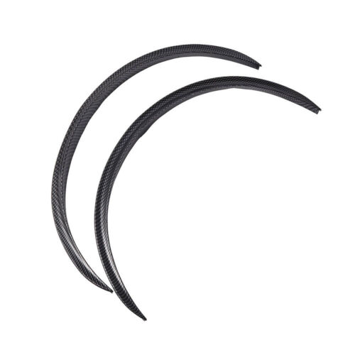 "28.7/"" 4Pcs Carbon Fiber Car Wheel Eyebrow Arch Trim Lips Fender Flares Protector"