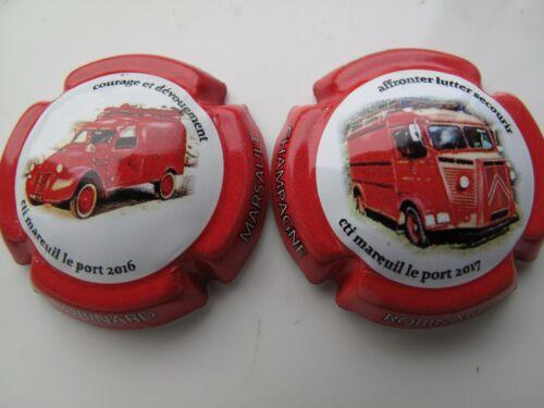 capsules de Champagne  ROBINARD-MARSAULT véhicules pompier Série de  2 Nouv