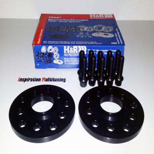 Abe 8s H /& R Nera PASSARUOTA DR 20 = 2x10mm per AUDI TT 8j con bulloni