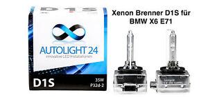 2 x Xenon Brenner D1S BMW X6 E71 Lampen Birnen E-Zulassung