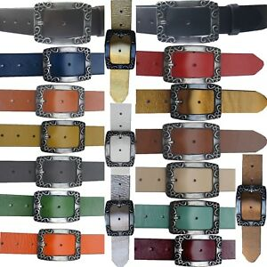 Cinturon-De-Cuero-Vaca-4cm-Ancho-Mujer-hombre-muy-estable-NUEVO