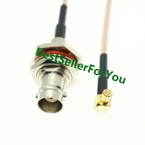 BNC jack female bulkhead to MCX Male Plug Right Angle RG316 Coaxial Cable