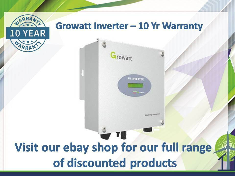 Clearance GROWATT 3000s Single MPPT 3kw MCS Solar Inverter - DC 10 yr warranty