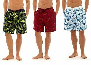 Kleidung & Accessoires PräZise Mens Leaf Print Swim Summer Swimming Shorts 13681 Herrenmode