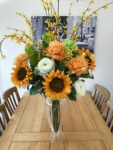 Artificial Flowers Arrangement Deluxe 120cm Extra Large Vase Table Display Water Ebay