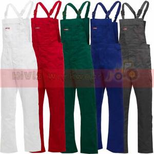 Trade Professional White Painters Decorators Bib /& Brace Dungarees Work Trousers