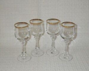 American-Stemware-Princeton-Pattern-Crystal-Cordial-Glasses-with-Gold-Rim-4
