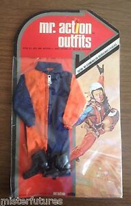 """1975 LJN Toys Mr Action 12"""" Skydiver Outfit MOC Unpunched card GI Joe Action Man - Deutschland - 1975 LJN Toys Mr Action 12"""" Skydiver Outfit MOC Unpunched card GI Joe Action Man - Deutschland"""