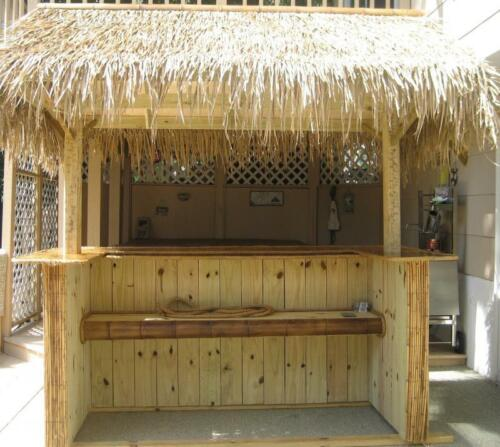 "FOUR-30/""X 4/' Tiki Hut Bar Grass Thatch Roll Palm Leaf Thatching"