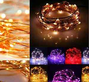 battery plug micro rice wire copper fairy string lights party ebay. Black Bedroom Furniture Sets. Home Design Ideas