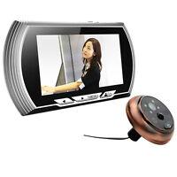 4.3 Inch Lcd Digital Doorbell Video Color 140 Degrees Peephole Viewer Ir Camera