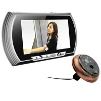 4.3 Inch Lcd Digital Doorbell Video Color 140 Degrees Peephole Viewer Ir Camera