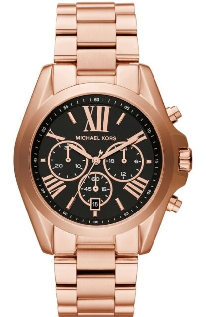 35b256e552bc Michael Kors MK5854 Chronograph Bradshaw Rose Gold Women s 43mm Case ...