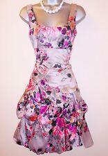 Monsoon Mink Carmel Floral Bouquet Evening Occasion Bridesmaid Dress Size 8