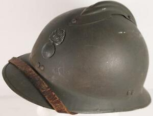 OLD-ANTIQUE-RUSSIA-FRENCH-WW1-ADRIAN-HELMET-RUSSIAN-WAR-HAT-M15-ORIGINAL-BATTLE
