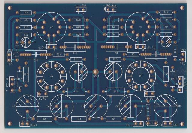 Single tube EL34 Triode/UL/Pentode power amplifier stereo PCB !