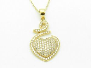18KT-GOLD-STERLING-SILVER-DIAMOND-SET-MICRO-PAVE-WHITE-SAPPHIRE-HEART-PENDANT