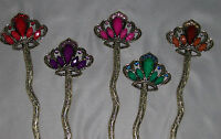 Crown Rhinestones Hair Stick Antique Style Hairpin Chignon Pin Fast Ship From Us