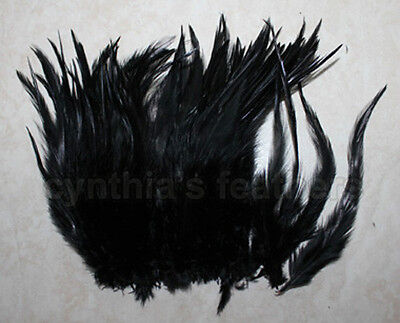 """100+ 9g, 0.32Oz Bright Orange 5-7/"""" saddle COQUE rooster Feathers for Crafting"""