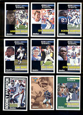 1991 Pinnacle New York Giants Set JEFF HOSTETLER PHIL SIMMS LAWRENCE TAYLOR