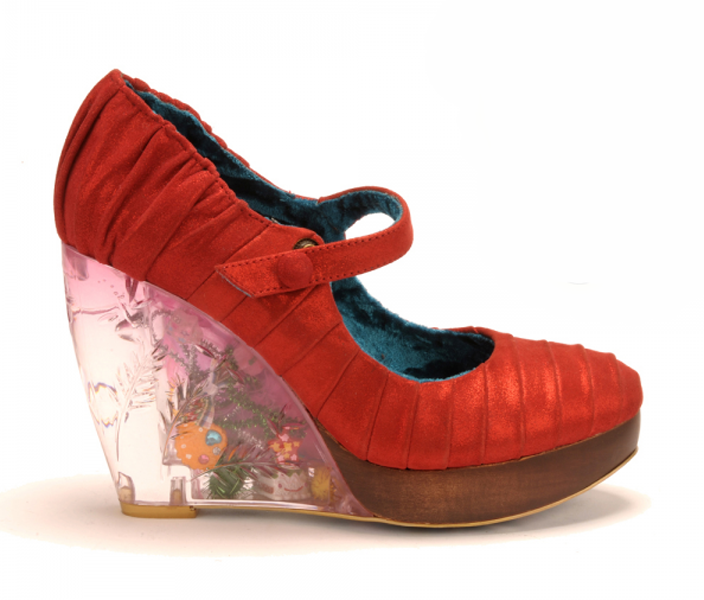 marche online vendita a basso costo IRREGULAR CHOICE LOW LEVEL DANGER rosso PUMPS LEATHER LEATHER LEATHER scarpe LIGHT UP 6.5 7  molte sorprese