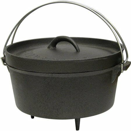 Stansport 4qt  Cast Iron Dutch Oven with Legs W  fashion mall